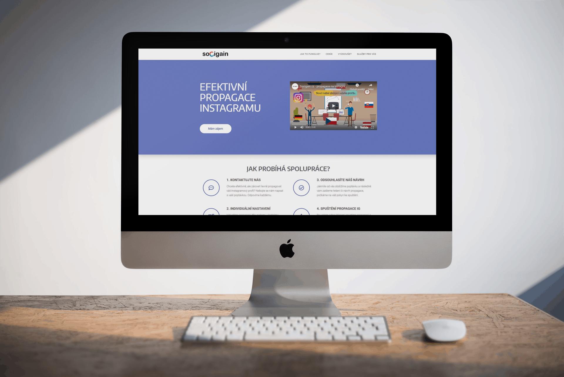 Tvorba webové stránky socigain