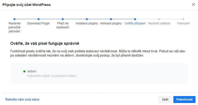 Ověření připojení Facebook Pixelu s webem