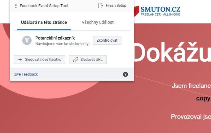 Přidání událostí (event) ve Facebook Pixelu