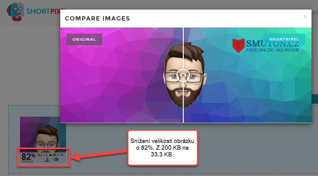 Snížení velikosti obrázku v Shortpixel | Smuton.cz