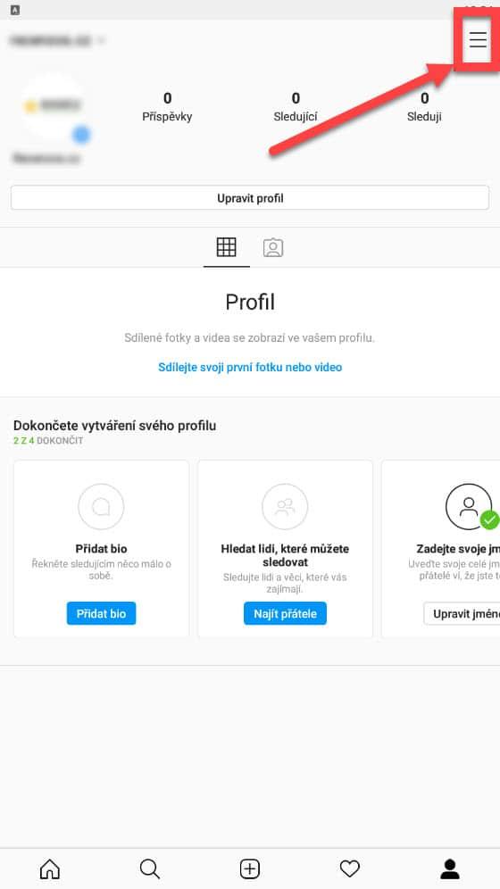Přepnutí IG profilu na profesionální účet | Smuton.cz