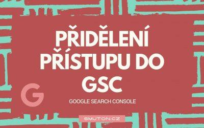 Přidělení přístupu do Google Search Console
