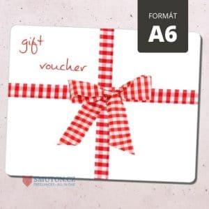 Dárkový poukaz / voucher - formát A6