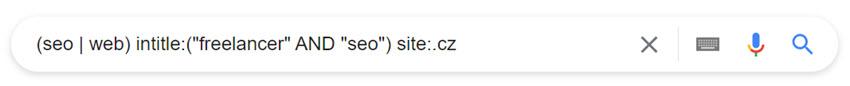 Google vyhledávání pomocí operátorů a to pouze .cz domény